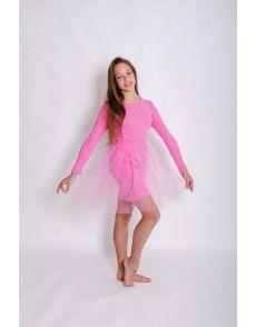 Платье розовое(122-152)