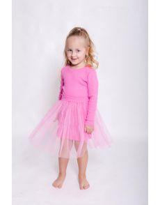Платье розовое(98-116)