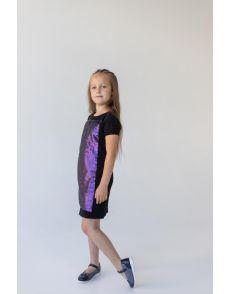 Платье с коротким рукавом(98-166)